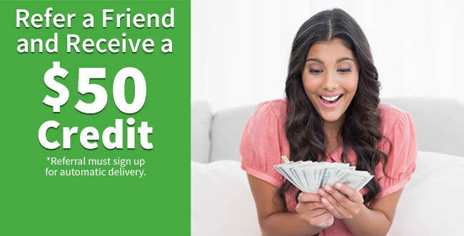 Refer a friend and receive a $50 credit
