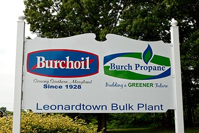 Burch Propane Sign