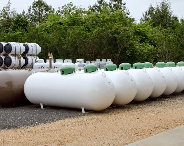 Propane tanks come in a variety of sizes.
